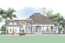 Home Plan - Mediterranean Exterior - Rear Elevation Plan #930-262