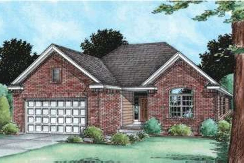 Home Plan - Traditional Exterior - Front Elevation Plan #20-1784