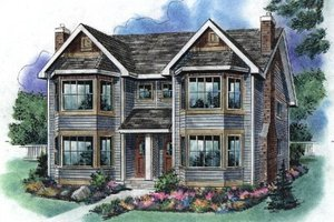 Traditional Exterior - Front Elevation Plan #18-2003