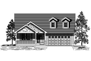 Bungalow Exterior - Front Elevation Plan #53-421