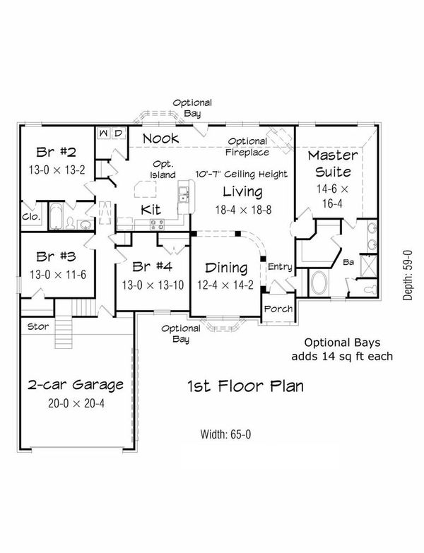 Floor Plan - Main Floor Plan Plan #329-349