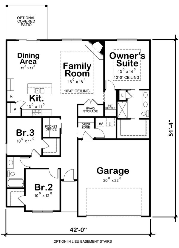 Dream House Plan - Traditional Floor Plan - Other Floor Plan #20-2350