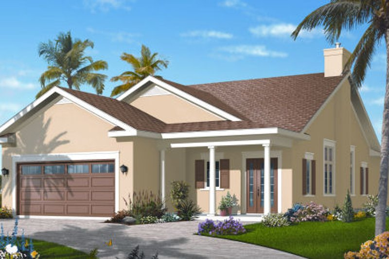 Architectural House Design - Southern Exterior - Front Elevation Plan #23-2208