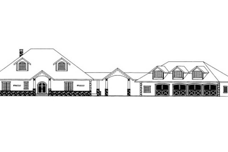 Dream House Plan - European Exterior - Front Elevation Plan #117-614