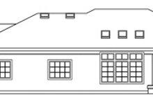 House Design - Mediterranean Exterior - Rear Elevation Plan #124-132