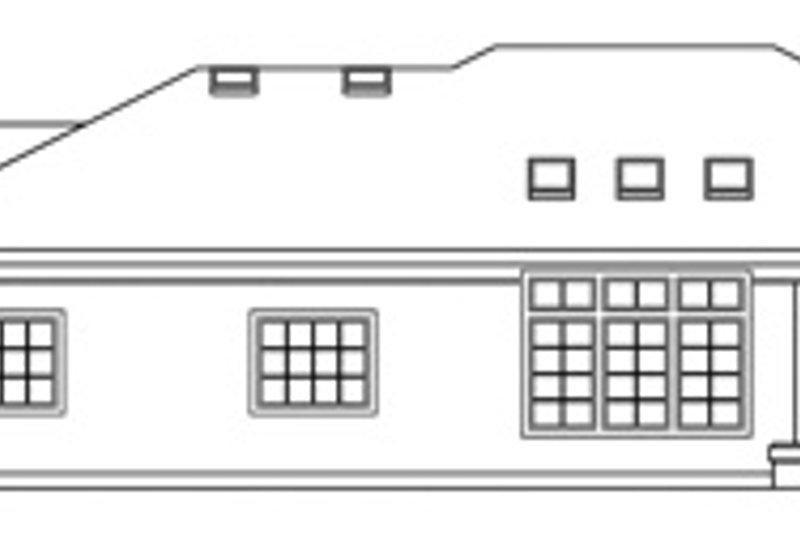 Mediterranean Exterior - Rear Elevation Plan #124-132 - Houseplans.com