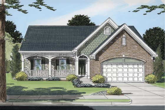 Traditional Exterior - Front Elevation Plan #46-372
