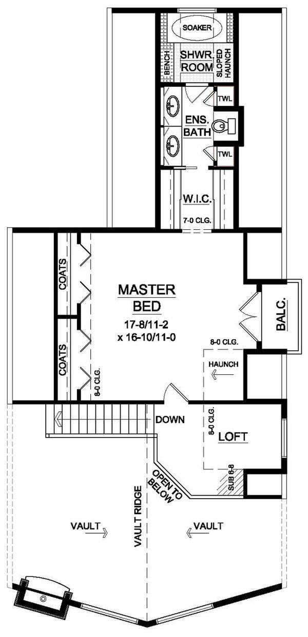 Cabin Floor Plan - Upper Floor Plan Plan #126-191