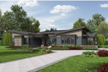 Dream House Plan - Modern Exterior - Front Elevation Plan #48-497