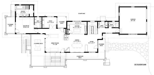 Dream House Plan - Prairie Floor Plan - Main Floor Plan #1042-17