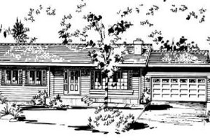Ranch Exterior - Front Elevation Plan #18-9075