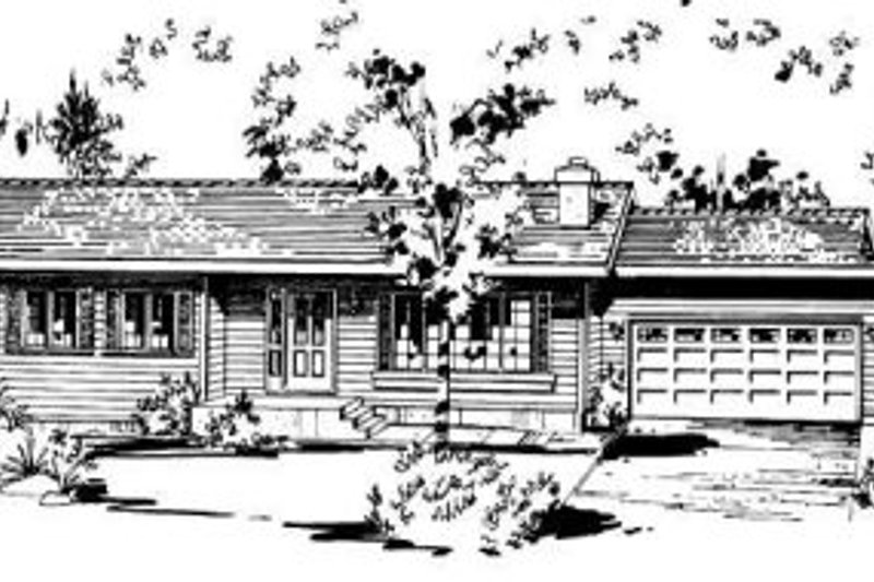 Ranch Style House Plan - 2 Beds 1.5 Baths 1129 Sq/Ft Plan #18-9075 Exterior - Front Elevation