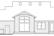 Country Exterior - Rear Elevation Plan #124-882