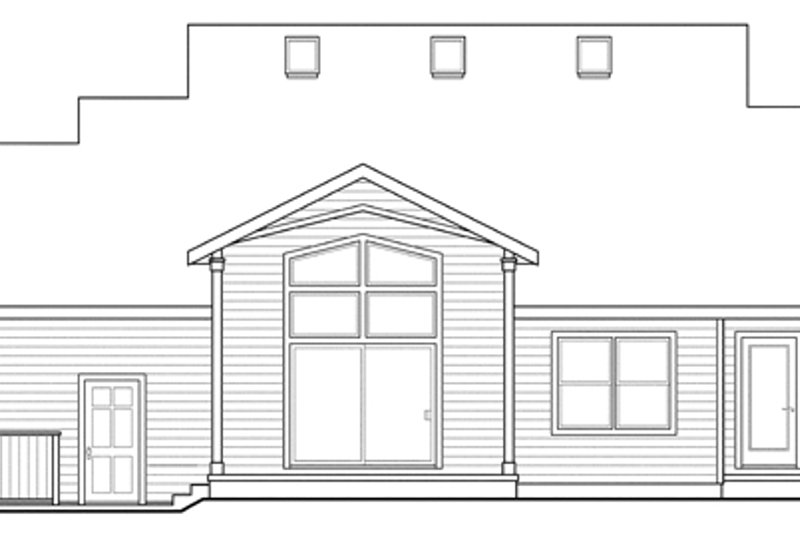 Country Exterior - Rear Elevation Plan #124-882 - Houseplans.com