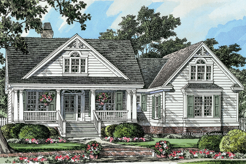 Country Exterior - Front Elevation Plan #929-8 - Houseplans.com