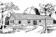 Ranch Style House Plan - 3 Beds 2 Baths 1400 Sq/Ft Plan #312-356