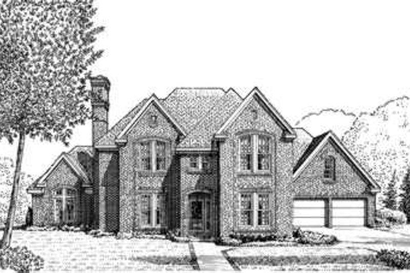 European Exterior - Front Elevation Plan #410-409 - Houseplans.com