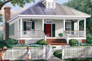 Country Exterior - Front Elevation Plan #137-365