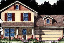 Country Exterior - Front Elevation Plan #1007-15