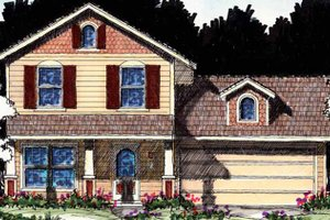 House Design - Country Exterior - Front Elevation Plan #1007-15