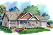 Country Style House Plan - 3 Beds 2 Baths 1368 Sq/Ft Plan #18-321 Exterior - Front Elevation
