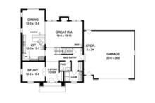 Colonial Floor Plan - Main Floor Plan Plan #1010-54