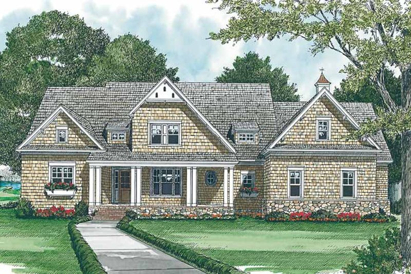 Craftsman Exterior - Front Elevation Plan #453-426