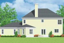 House Blueprint - Country Exterior - Rear Elevation Plan #72-1102