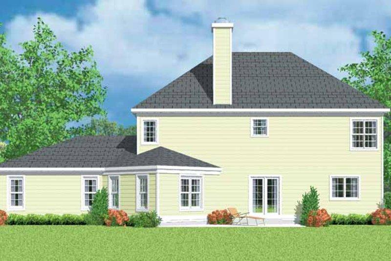 Country Exterior - Rear Elevation Plan #72-1102 - Houseplans.com