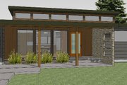 Modern Style House Plan - 3 Beds 2 Baths 1986 Sq/Ft Plan #519-2 Exterior - Front Elevation
