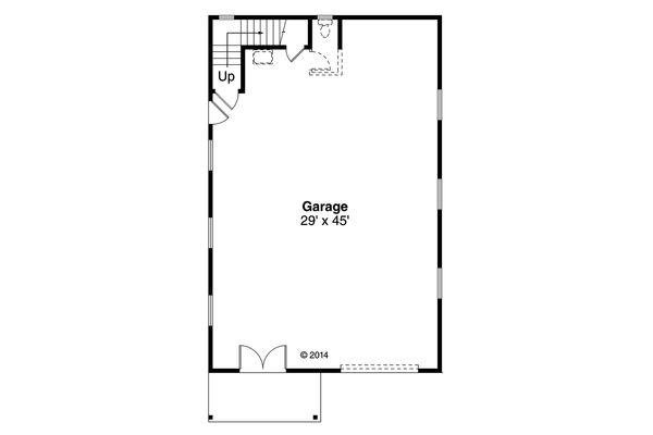 Craftsman Floor Plan - Main Floor Plan Plan #124-1069