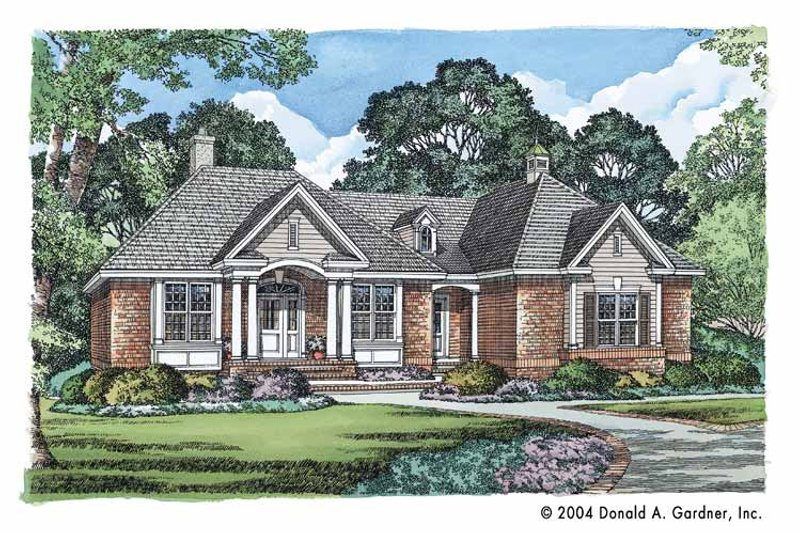 Ranch Exterior - Front Elevation Plan #929-539 - Houseplans.com