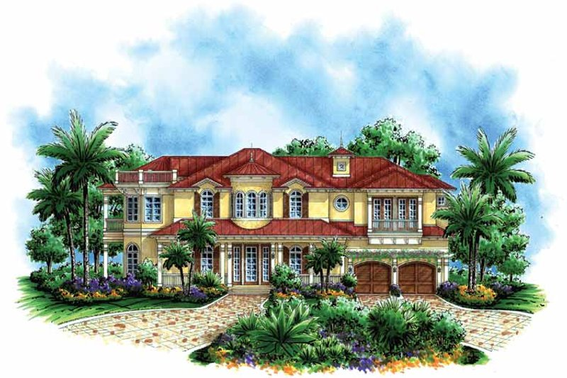 Mediterranean Exterior - Front Elevation Plan #1017-56
