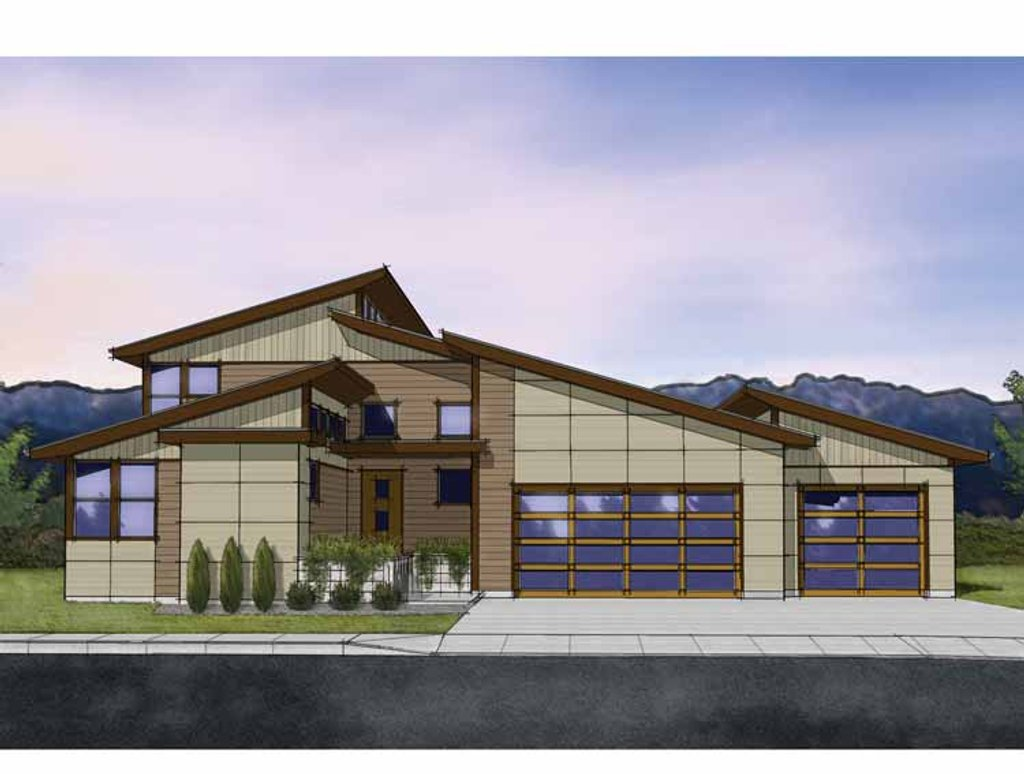 Contemporary style house plan 3 beds 3 baths 2566 sq ft for Www homeplans com