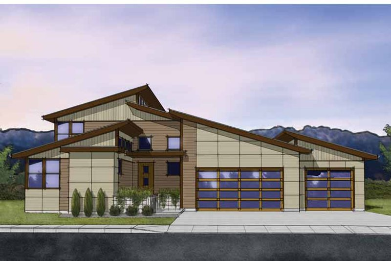 Contemporary Exterior - Front Elevation Plan #569-29 - Houseplans.com
