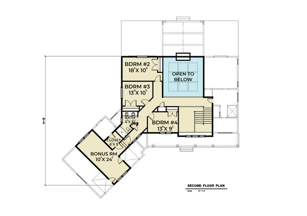 House Design - Contemporary Floor Plan - Upper Floor Plan #1070-81