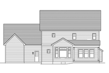 Colonial Exterior - Rear Elevation Plan #1010-58