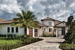 Dream House Plan - Mediterranean Exterior - Front Elevation Plan #930-444