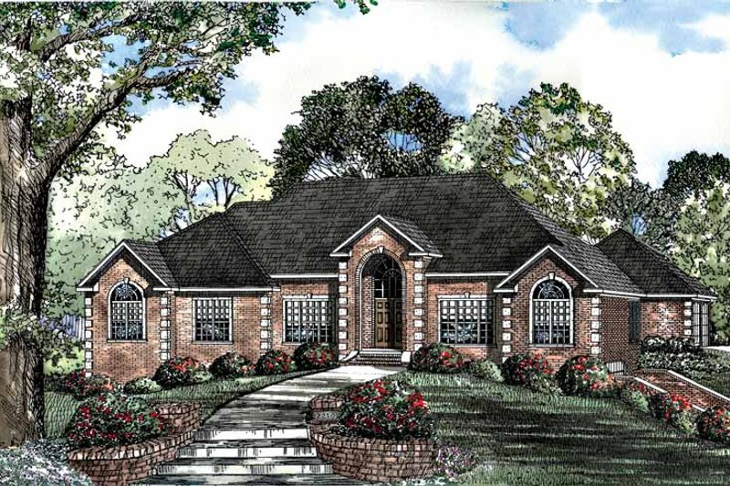 Dream House Plan - Traditional Exterior - Front Elevation Plan #17-2939