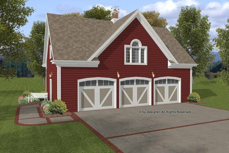 Craftsman Exterior - Front Elevation Plan #56-673
