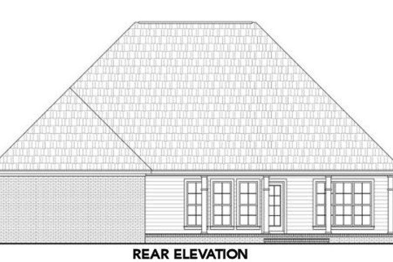 Traditional Exterior - Rear Elevation Plan #21-306 - Houseplans.com