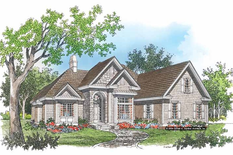 European Exterior - Front Elevation Plan #929-315