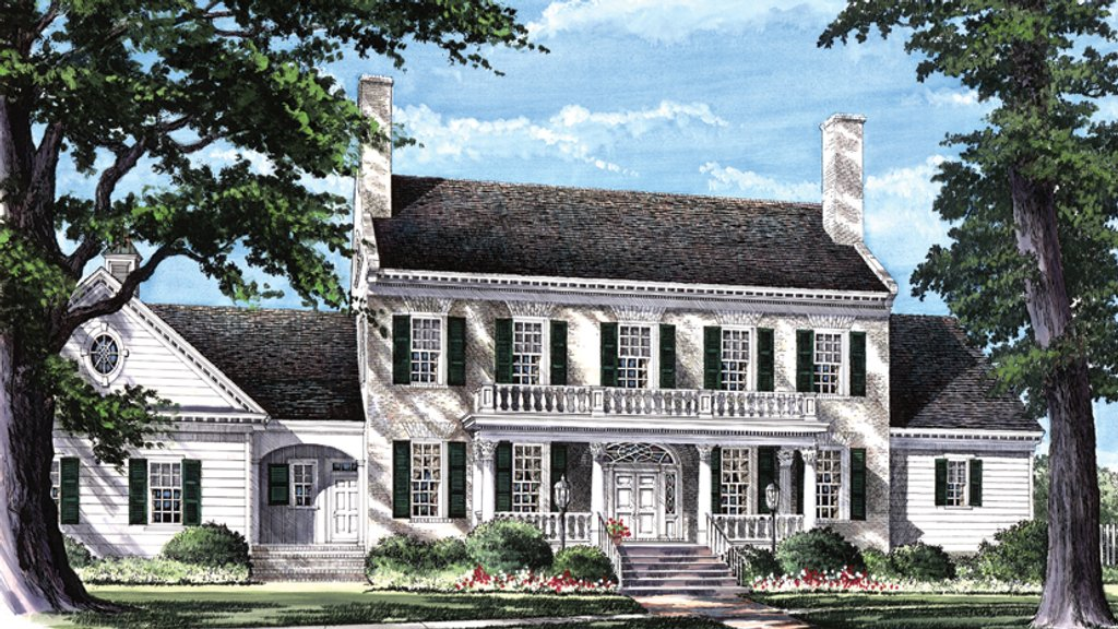 Classical style house plan 4 beds 4 baths 4263 sq ft for Federal colonial house plans