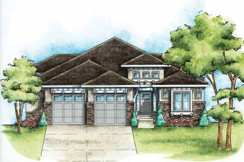 Country Exterior - Front Elevation Plan #20-2242