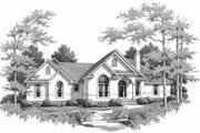 Mediterranean Style House Plan - 3 Beds 2.5 Baths 2104 Sq/Ft Plan #14-158 Exterior - Front Elevation