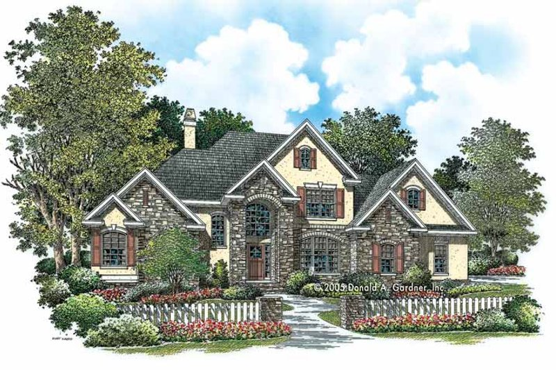 House Plan Design - Traditional Exterior - Front Elevation Plan #929-782