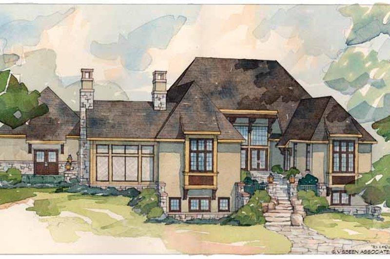 European Exterior - Rear Elevation Plan #928-29 - Houseplans.com