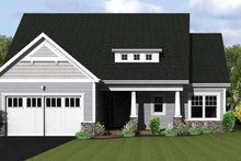 Ranch Exterior - Front Elevation Plan #1010-21