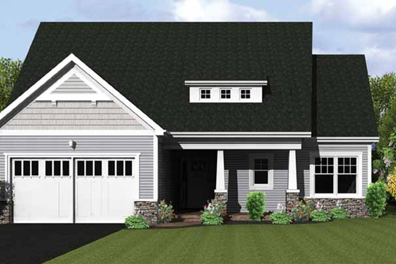 Home Plan - Ranch Exterior - Front Elevation Plan #1010-21