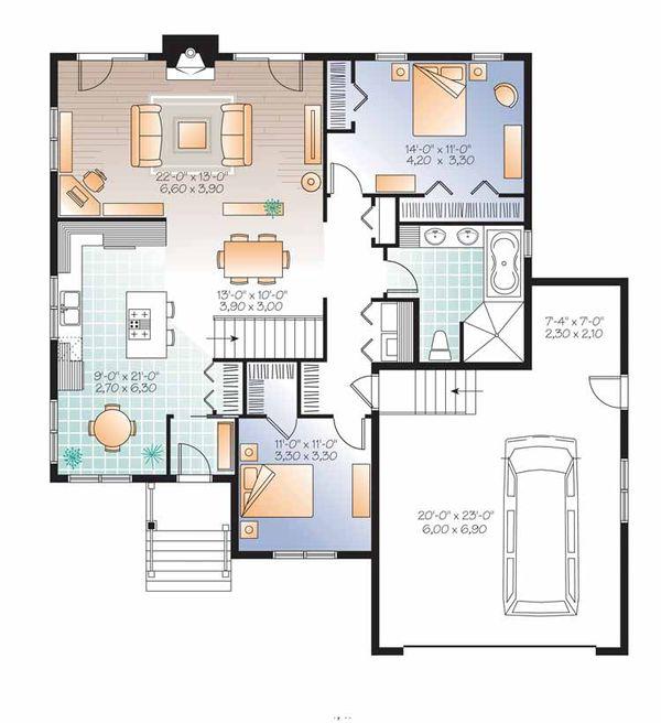 Country Floor Plan - Main Floor Plan Plan #23-2526